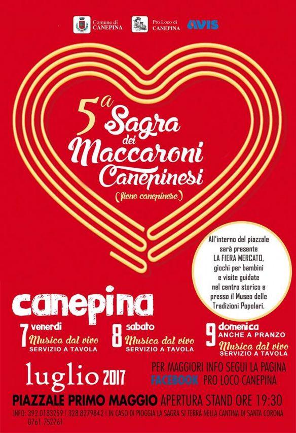 5 Sagra Dei Maccaroni Canepinesi Da Venerd 7 Luglio 2017